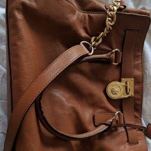 Michael Kors Large Leather Hamilton Tote